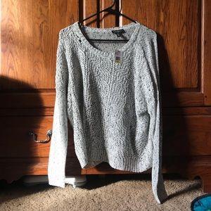 NWT Jessica Simpson Gray Design Sweater